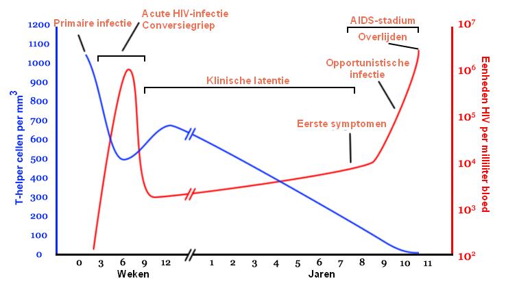 hiv-infectie-verloop-aids